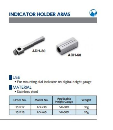Indicator Holder Arms (ADH Series) 2