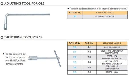 Special Tools for Torque Wrench 1